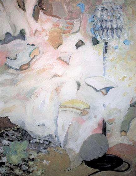 """""""Het was zo rustig""""  acryl op doek  120x80 2017"""