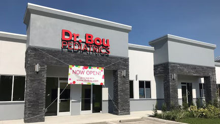 Building front of Dr. Bou Pediatrics in Wesley Chapel, FL, by New Tampa