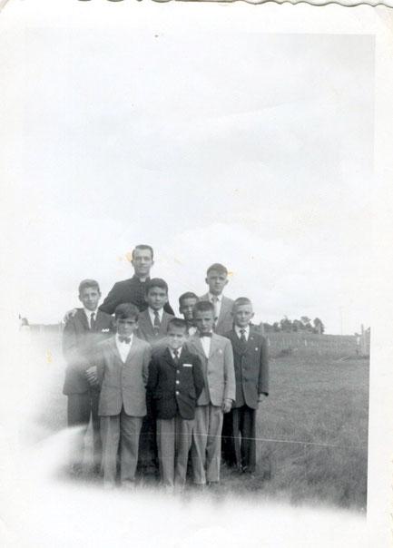 Garçons de l'école en 1961-62