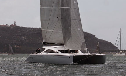 Catamaran Countess sailing in the Crowther Memorial Regatta 2014