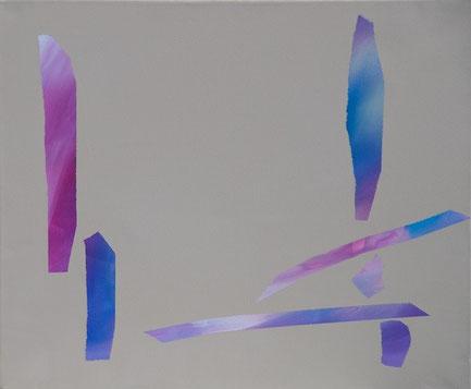 ohne Titel, Acryl auf Leinwand, 60 x 50 cm