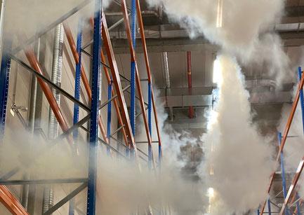 CO2 Gaseinströmung im Havariefall - Gefahrstofflager VS Logistics Dettelbach