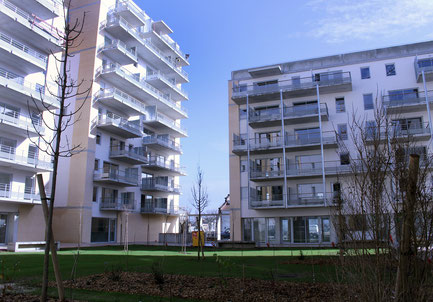 """""""Aux quatre vents"""", projet d'habitat participatif à la Cartoucherie à Toulouse, 89 logements."""