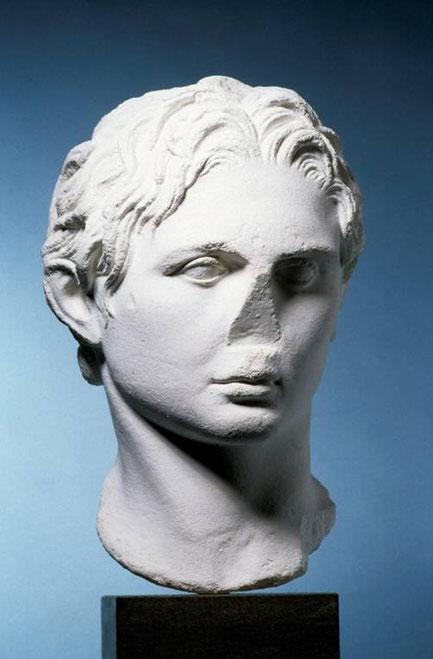 Alexander der Große (röm. Kopie (Wien/griechisches Orginal um 334 v. Chr. wohl von Lysipp) (Archiv Hölscher))
