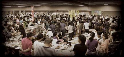 写真は過去の台東館での開催模様です。