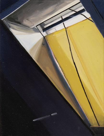Dachbodenfenster, 2019, Öl auf Leinwand, 18x 24 cm