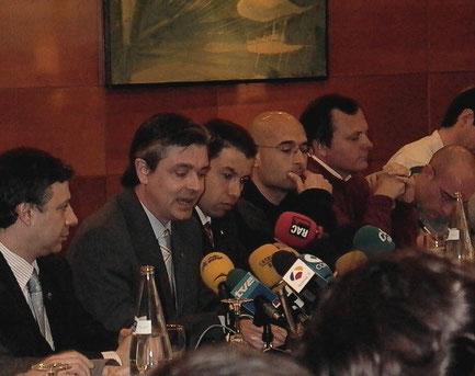 Presentació als mitjans del candidat  a la presidència del Barça Jordi Medina