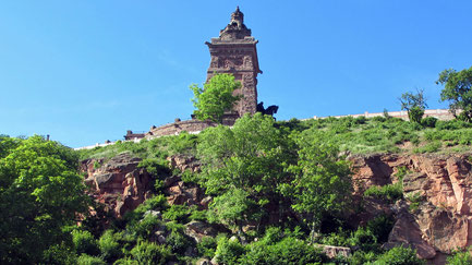 Samstag: Wir besuchen das Monumental-Denkmal auf dem Kyyfhäuser-Berg, das zu Ehren des Friedenskaisers Wilhelm I. errichtet wurde.