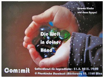 """Einladung zur com:mit Messe unter dem Thema """"Die Welt in deiner Hand"""" (PDF)"""