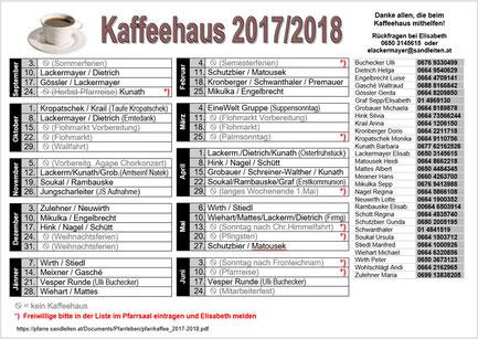 Pfarrkaffee Diensteinteilung 2017/2018 (PDF)