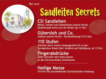 Programm der Pfarre Sandleiten in der Langen Nacht der Kirchen 2015 (PDF)