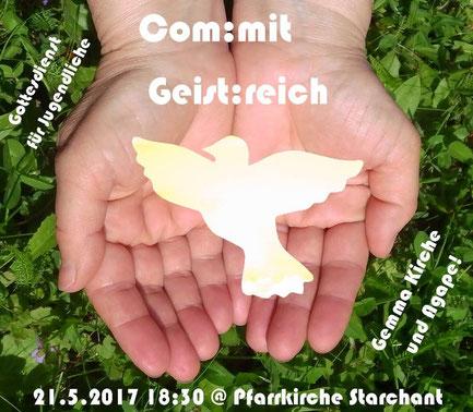 """Einladung zur com:mit Messe in Starchant mit dem Thema """"Geist:reich"""""""