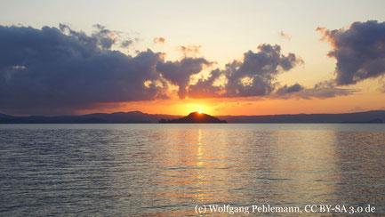 Donnerstag: Am Bolsenasee ist eine Schifffahrt geplant.