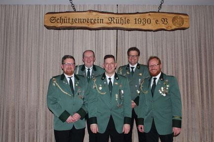 Von links: Jürgen Schulte, Franz Hüsers, Günther Brink, Andreas Steinkamp und Andreas Rojer
