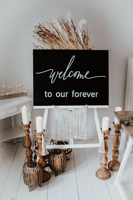 Boho Wedding welcome