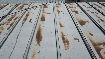 さいたま市岩槻区の工場、屋根塗装工事前の写真