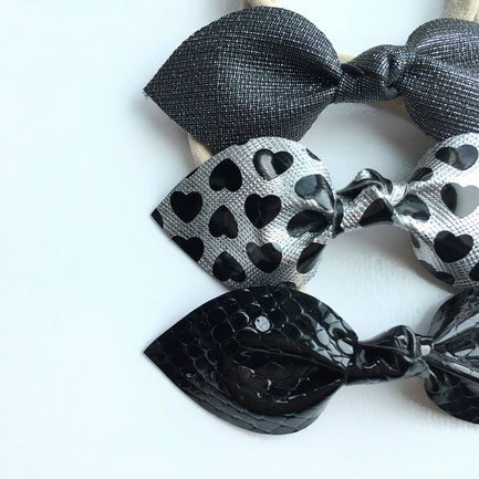 Faux leather bow headband (Click on the picture to learn more!)
