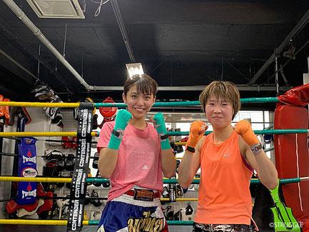 ▲ストラッグル所属 ぱんちゃん璃奈(左)