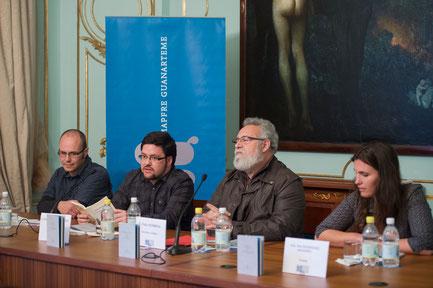 Bruno Mesa, Félix Hormiga, Nira Rodríguez y Daniel Bernal Suárez