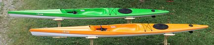 *Surf Ski Raptor (ähnlich wie ein Regattaboot, jedoch stabiler)