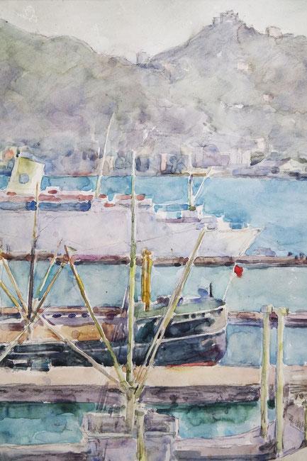 te_koop_aangeboden_een_havengezicht_van_hongkong_van_de_nederlandse_kunstenaar_cees_bolding_1897-1979