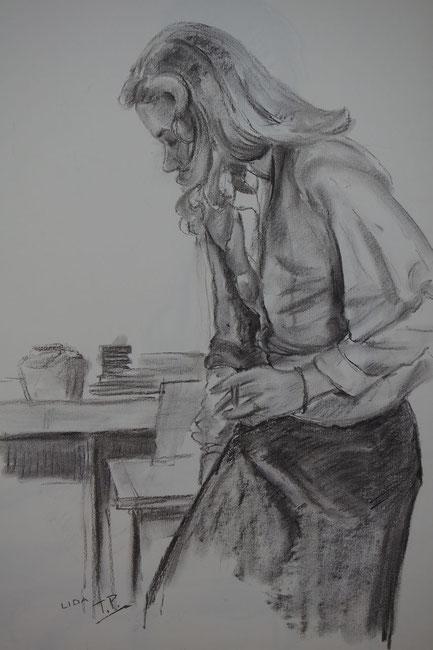 te_koop_aangeboden_een_houtskool_tekening_van_de_kunstenaar_ton_pape_1916-2003