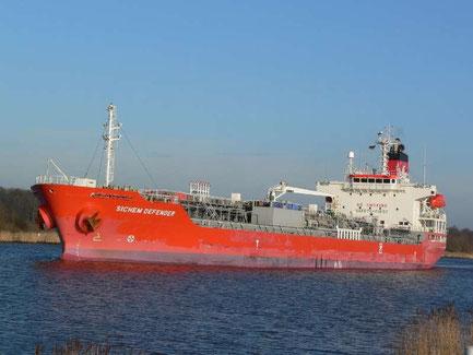 Sichem Defender, el primer barco en traer agua a Barcelona