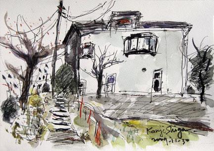 神奈川県・藤沢市街地の裏通りの一軒家