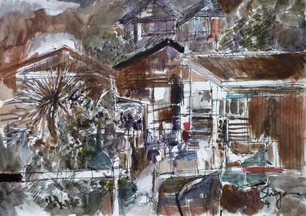鎌倉市・腰越漁港の倉庫