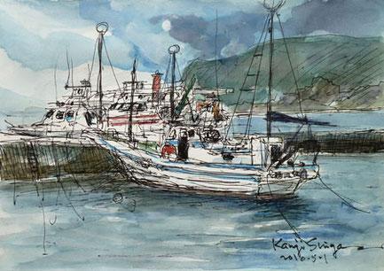 鎌倉市・腰越漁港の漁船