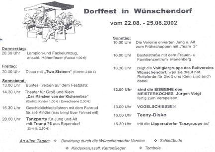 Bild: Wünschendorf Erzgebirge Dorffest 2002