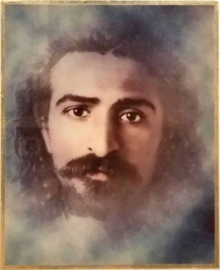 Colourized image of Meher Baba
