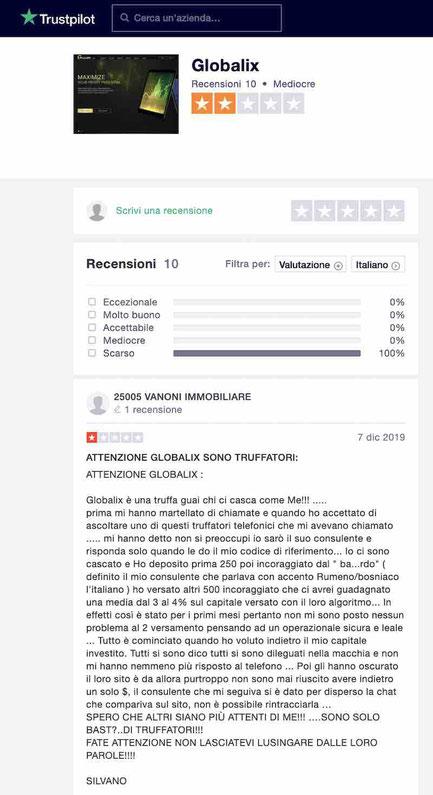 globalix recensioni negative
