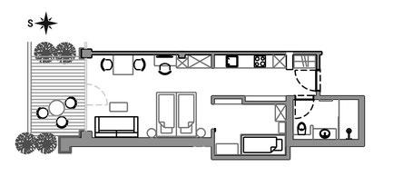 Apartement Iva - floor plan