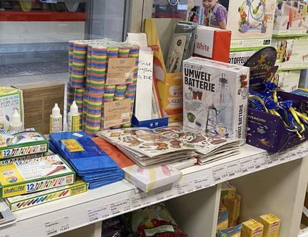 ökologische und schadstofffreie Kinderspielsachen, Malbücher, Bücher, Malutensilien, Bio-Windeln und Kinderpflaster