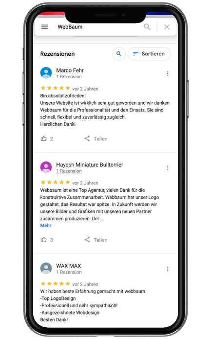 Webbaum Schweiz Google Zürich