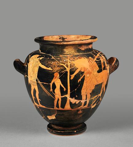 Achilleus bei Chiron (Vasenbild) (Archiv Hölscher)
