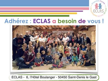 Devenez adhérent : ECLAS a besoin de vous