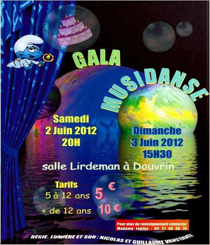 L'ecole de danse Musidanse présente son 28eme gala le samedi 02 et dimanche 03 juin 2012 ...
