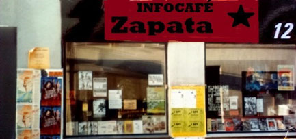 Autonomi-kollektivets bogcafé ZAPATA (1989 – 1993) i Blågårdsgade 12, København - Nørrebro