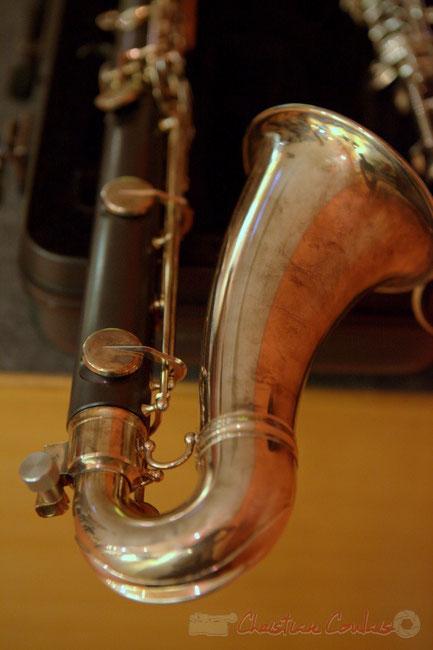 Clarinette basse de Francis Henry. Festival JAZZ360 2015, Latresne. Photographie : Christian Coulais