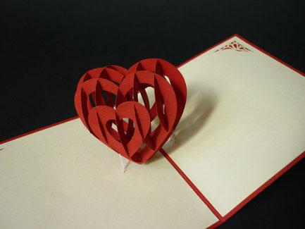 Carte Pop-Up Love Heart