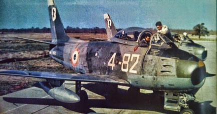 Canadair Sabre della 4^ Aerobrigata. I primi esemplari erano con il classico schema mimetico verde-grigio poi venne preferito il NM