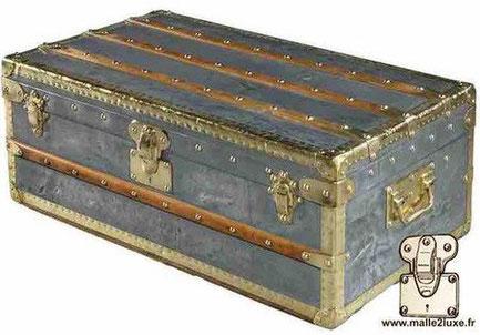 Louis Vuitton cabin trunk - zinc Year: Circa 1900