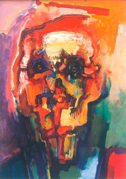 Gerhard Fietz, 1965-16, Öl auf Hartfaserplatt, 1965