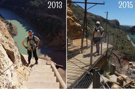 Caminito del Rey - Vorher und Nachher