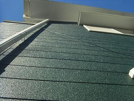 熊本県T様家の外壁塗装グリーン完成。
