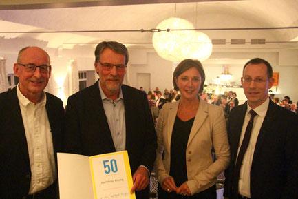 v.l.: Hermann Ludewig, Karl-Heinz Kissing, Yvonne Gebauer und Dirk Stockamp