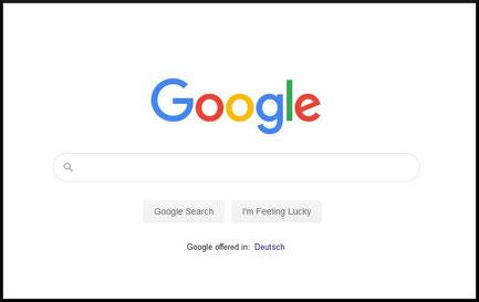 Google Suchmaschine - Pionier für minimalistisches Webdesign