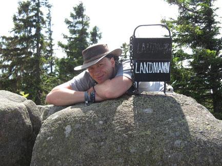 Alexander Landmann auf der Landmannsklippe